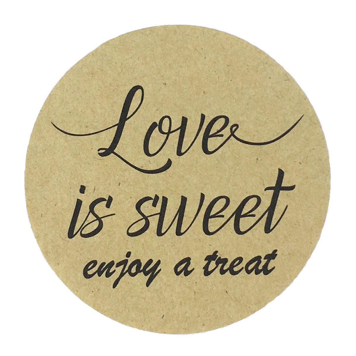80-2'' Kraft Love is Sweet Stickers, Wedding Favor Labels, Have a Treat Sticker