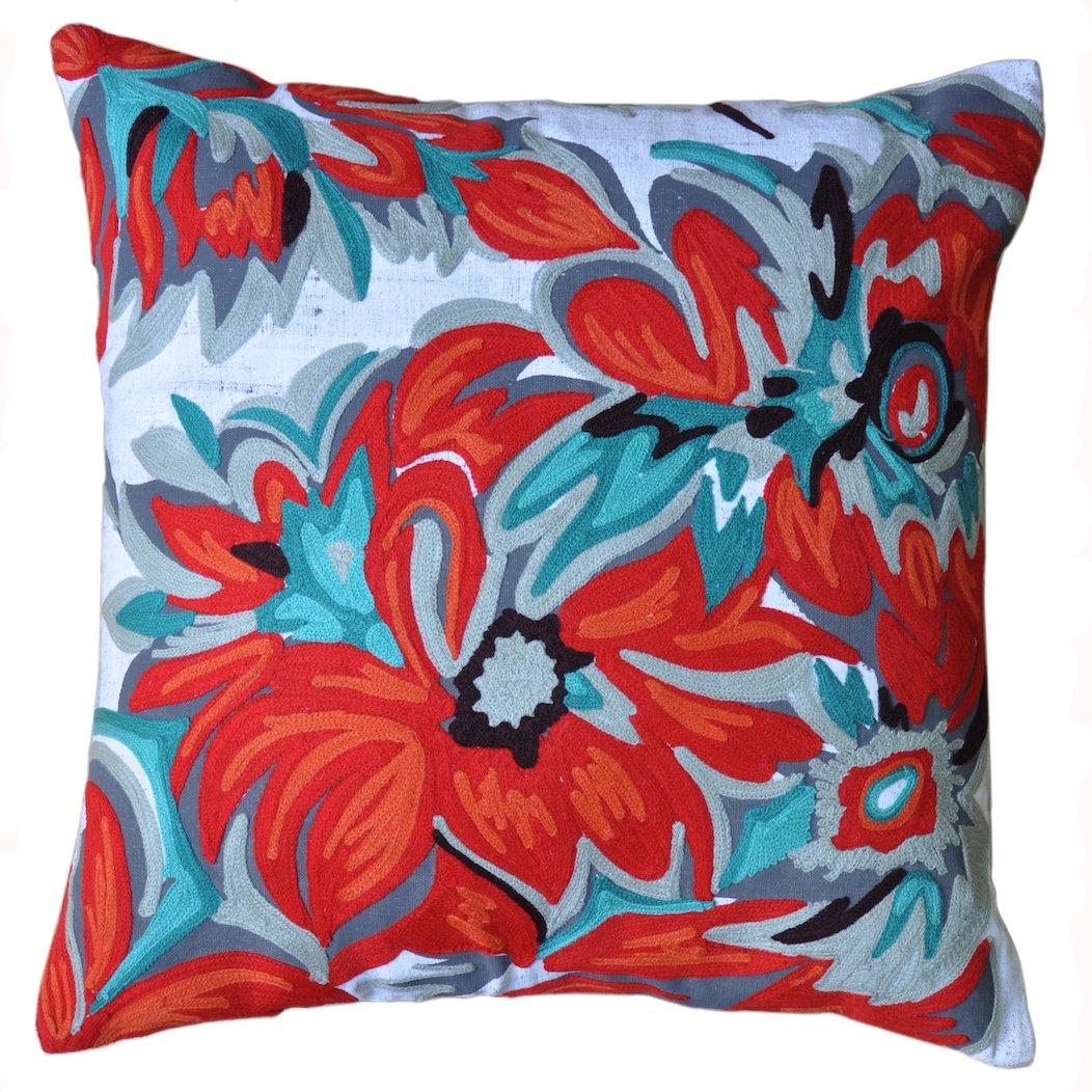 26 Round Floor Pillow Kess InHouse Cyndi Steen Daffodil Multicolor Digital