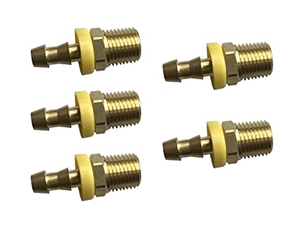 Hose Barb To Male Pipe sky-w Easy Lock Hose Brass Fittings,Push-On Connector 5, 3//8 Hose ID x 1//4 Male NPT
