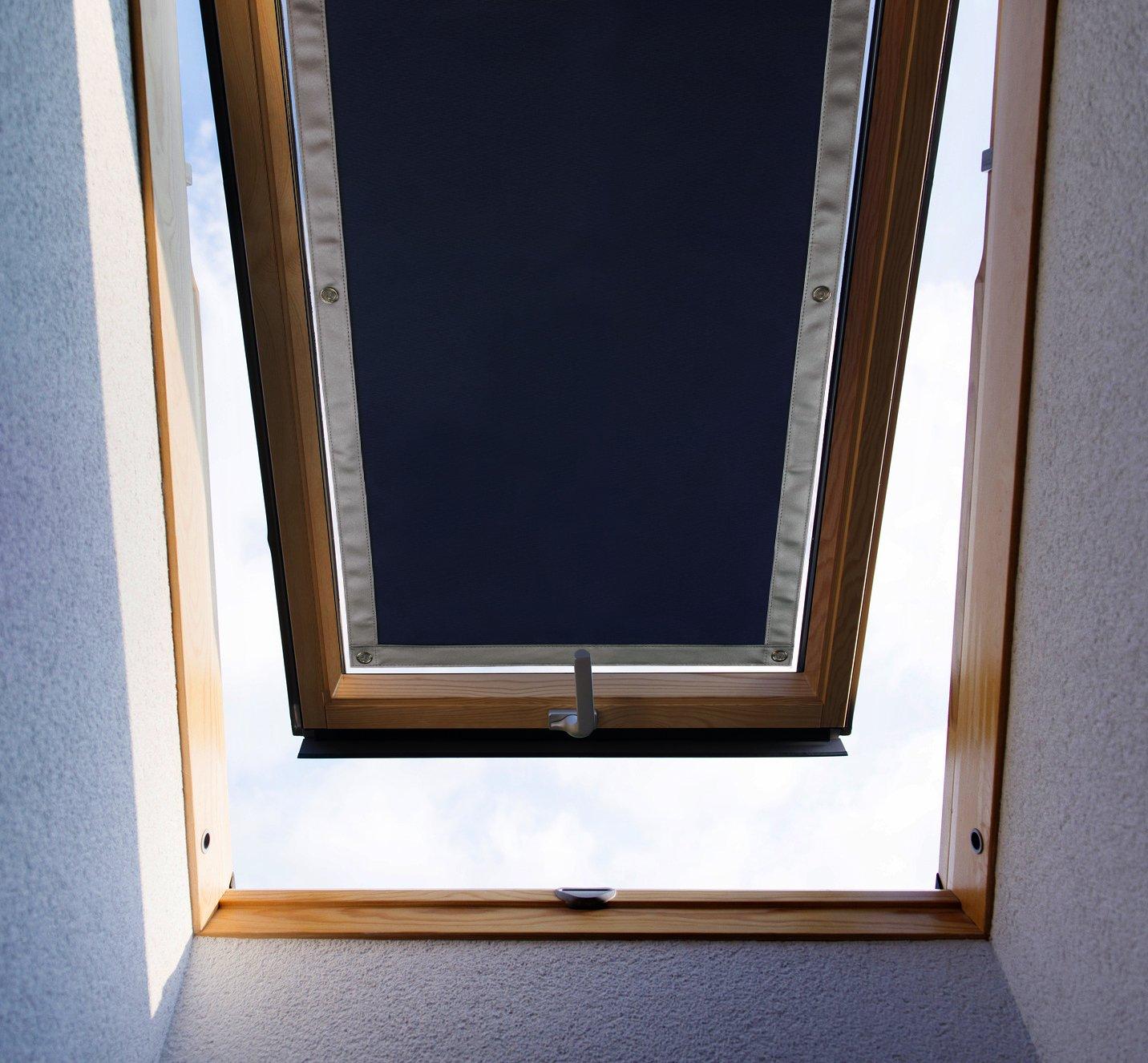 Purovi® Tenda Oscurante Termica per LUCERNARI | Protegge dal Calore | Montaggio Senza Trapano o Nastro Adesivo | Vasta Gamma Compatibile con finestre Velux e Roto | Dimensioni: ROTO 5/7-32 x 56 cm