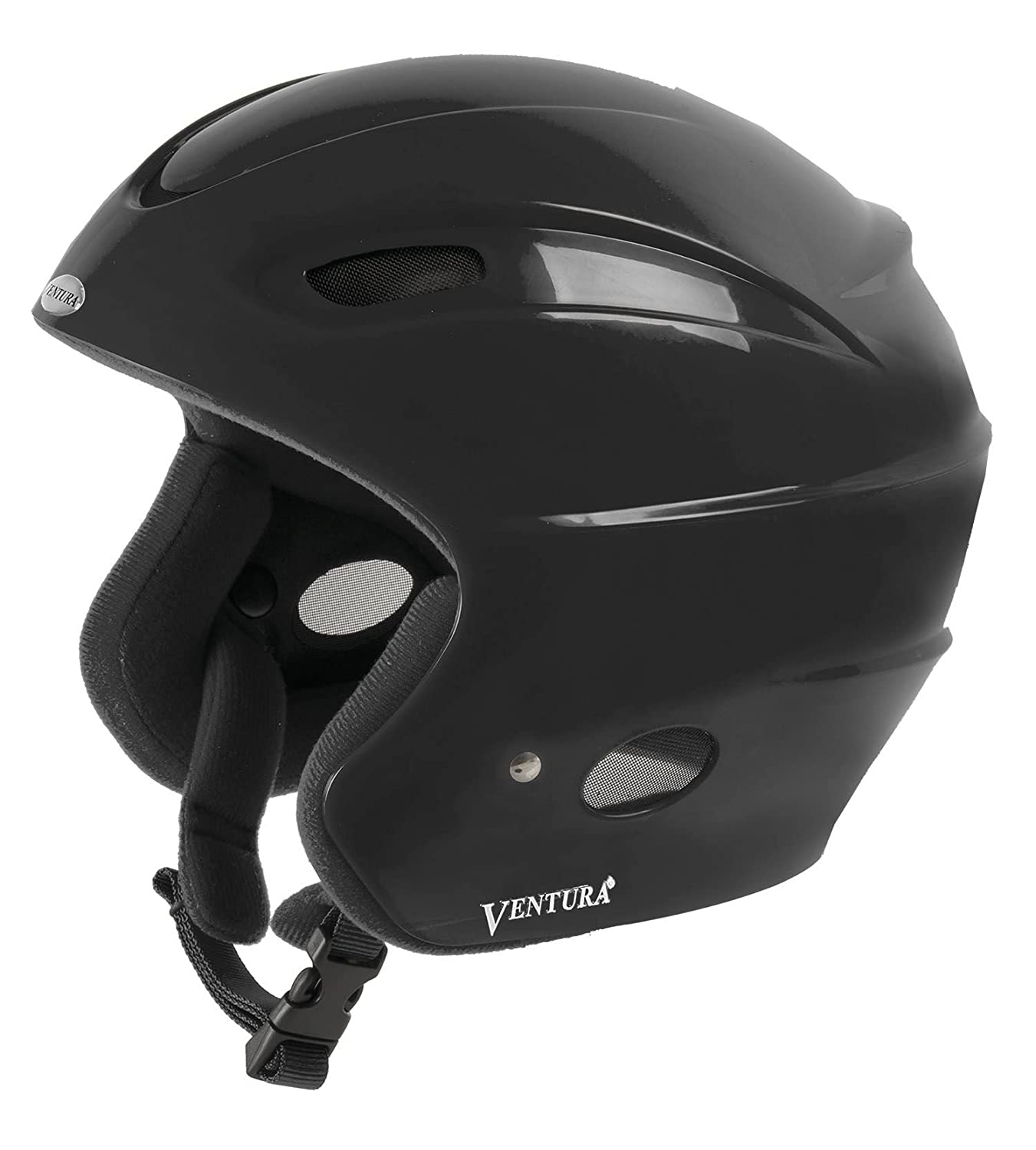 Ventura Skihelm Racing Star II Kids Casco de esquí color negro talla