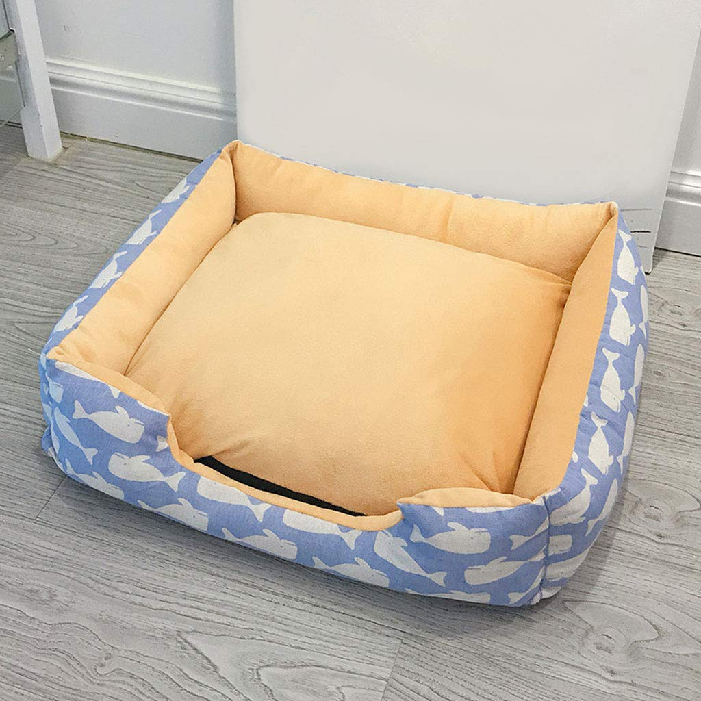 C S C S LJM- Dog Bed for Pets & Cats Printed Lounger with Self Warming Cozy Inner Cushion for Home, Crate & Travel Medium (color   C, Size   S)