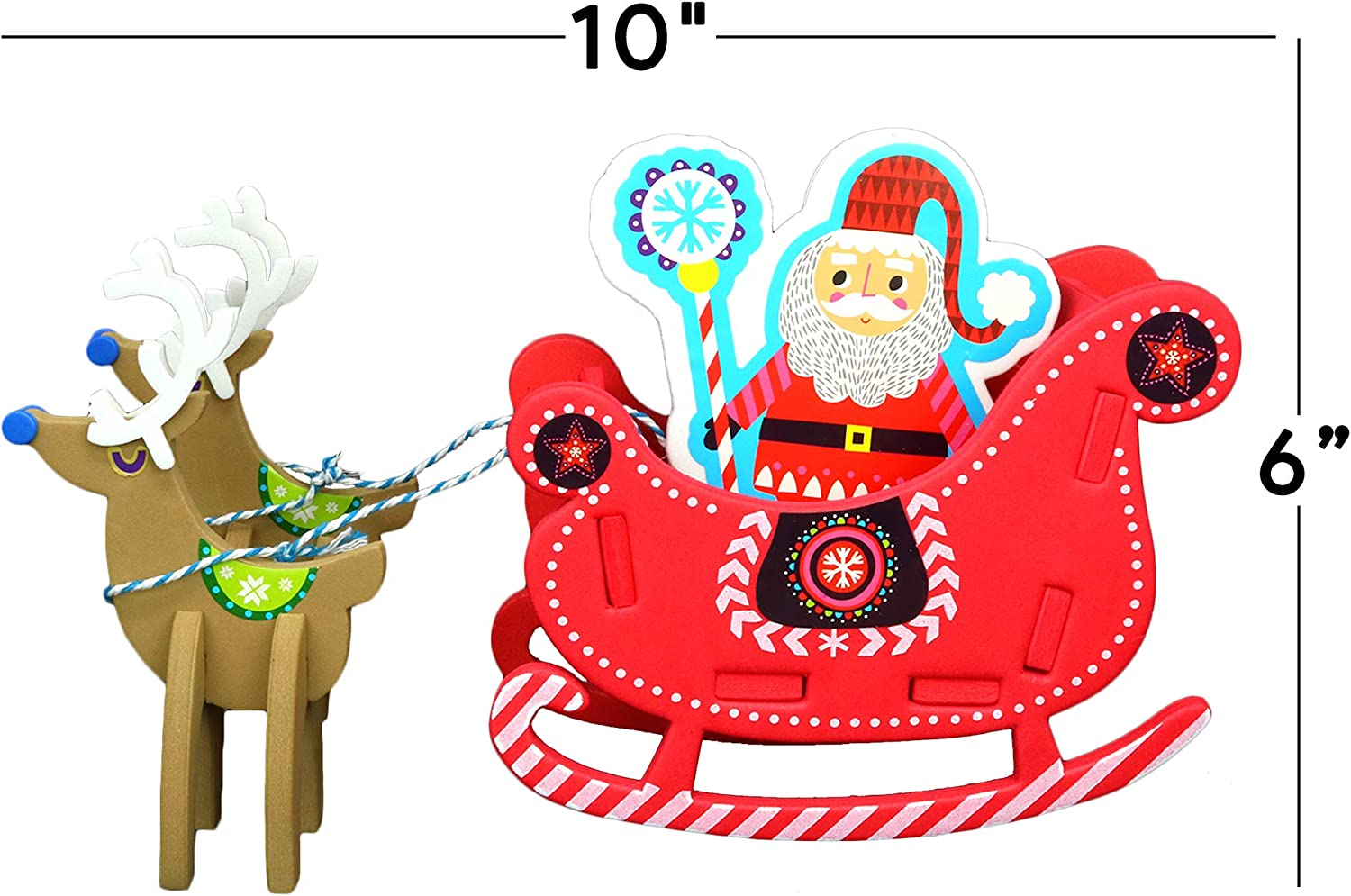 3D Reindeer Stable Foam Christmas Craft Kit Kids Gift