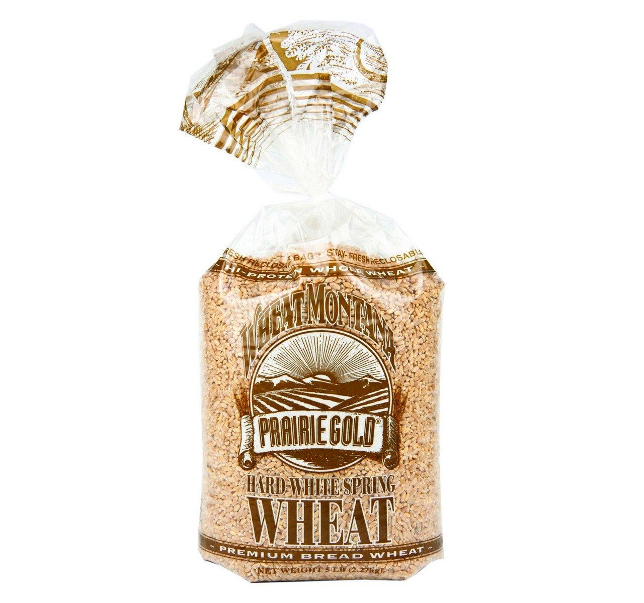 Wheat Montana Prairie Gold Hard White Spring Wheat Berries (Pack of Four - 5 Lb. Bags)
