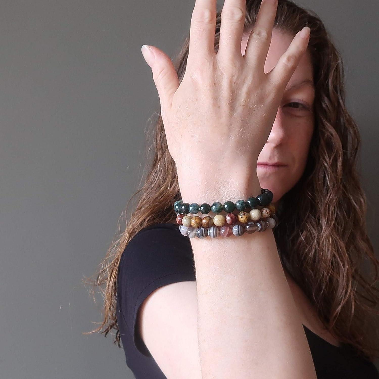 Jade Agate and hematite bracelets Stack BraceletsDuo BraceletsTwo BraceletsJasper