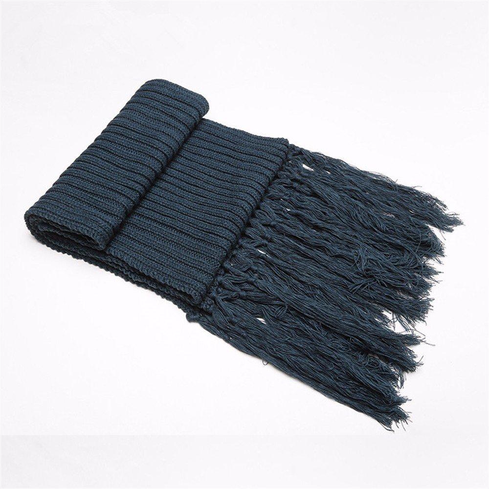 DIDIDD Bufanda-damas otoño invierno espesantes suéteres borlas bufandas tejidas,A