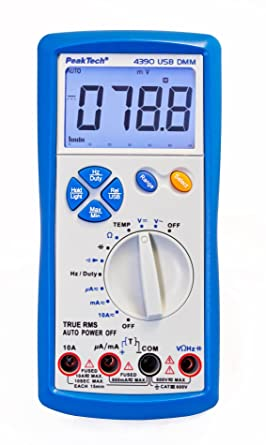 Peaktech True Rms Digital Multimeter 6000 Counts With Usb Continuity Tester And Auto Orange Cat Iii 600v Pack Of 1 P 4390 Business Industry Science