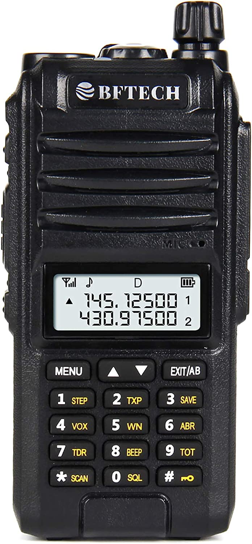 BFTECH BF-F8X3 Tri-Band 8 Watt VHF 1.25M UHF 136-174/220-260/400-520Mhz Portable Amateur Ham Two Way Radio