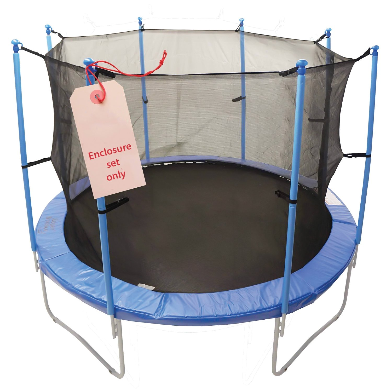 Upper Bounce 8 Pole Trampoline Enclosure Set to fit 13 FT. Trampoline Frames with set of 4 or 8 W-Shaped Legs (Trampoline Not Included)