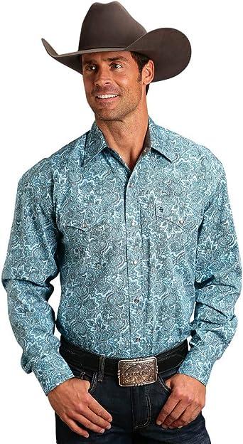 Stetson Men/'s Floral Paisley Print Long Sleeve Western Shirt 11-001-0425-0502