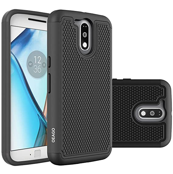 newest dd196 6f632 Moto G4 Case, Moto G4 Plus Case - OEAGO [Shockproof] [Impact Protection]  Hybrid Dual Layer Defender Protective Case Cover for Motorola Moto G4 / G4  ...