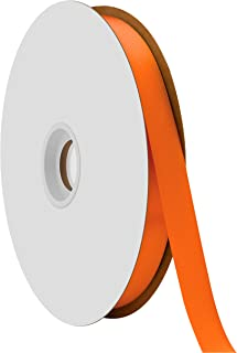 "product image for Offray Berwick 5/8"" Single Face Satin Ribbon, Torrid Orange, 100 Yds"