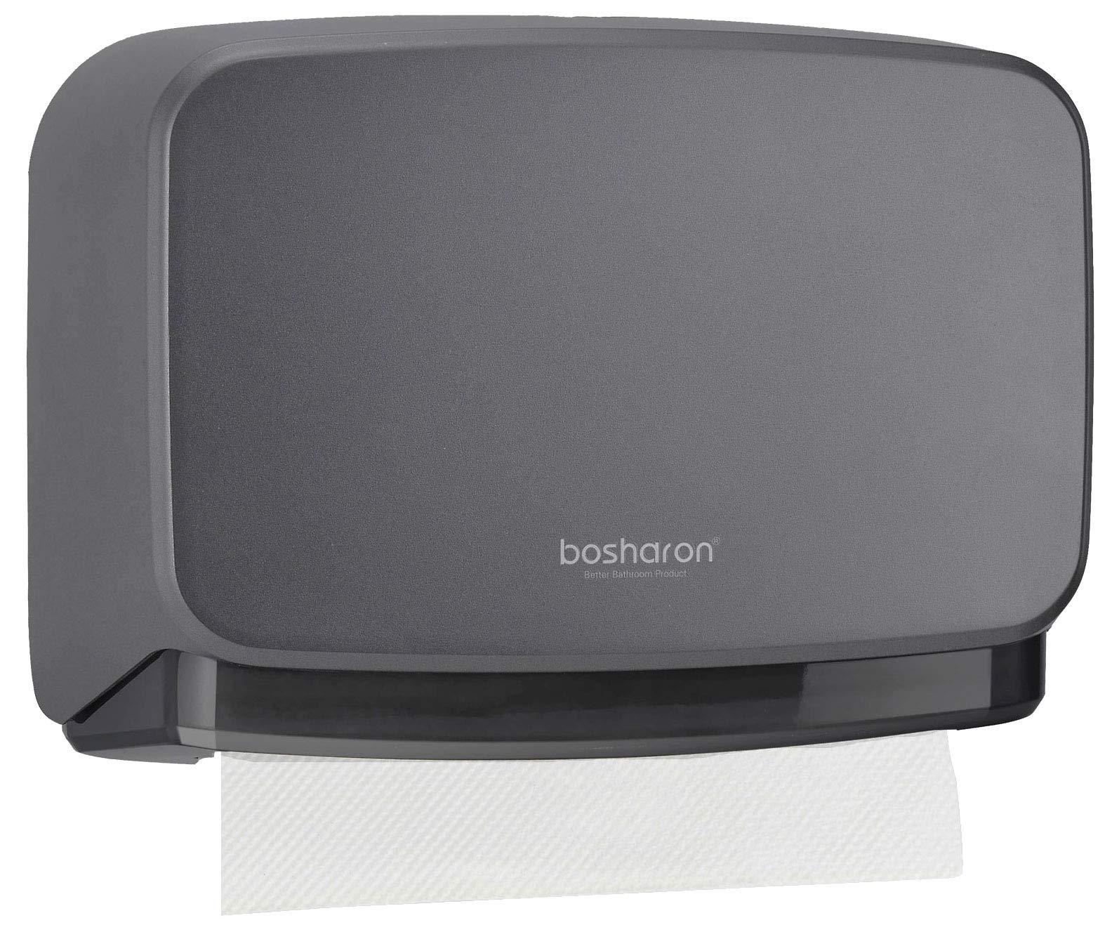 Bosharon Wall-Mounted Bathroom Tissue Dispenser Paper Towel Tissue Holder (Grey)