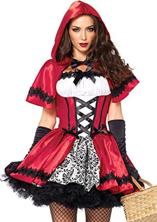 Leg Avenue- Caperucita roja Mujer, Color Rojo, Blanco, Large (EUR ...