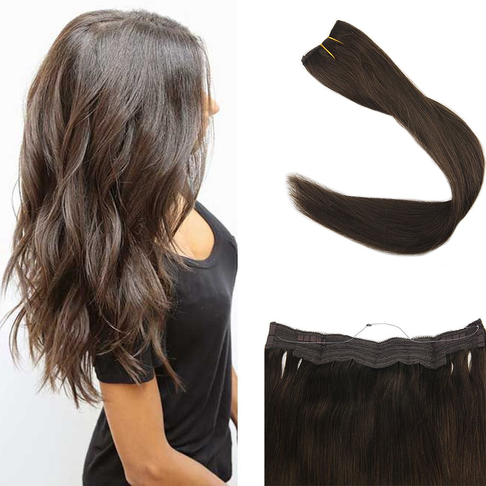 Full Shine 20inch Flip on Invisible Double Weft Hair Extension Fish ...