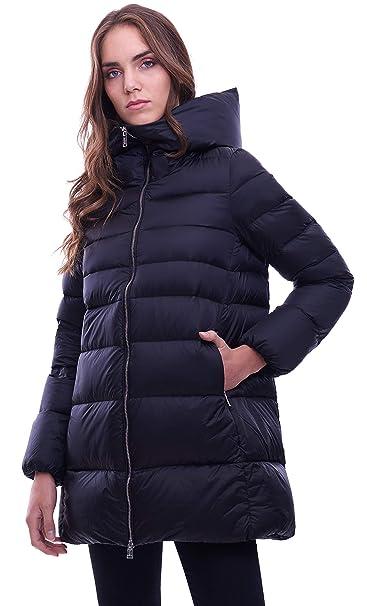 premium selection 74519 5eb1c ADD Piumino Svasato con Cappuccio Nero: Amazon.it: Abbigliamento