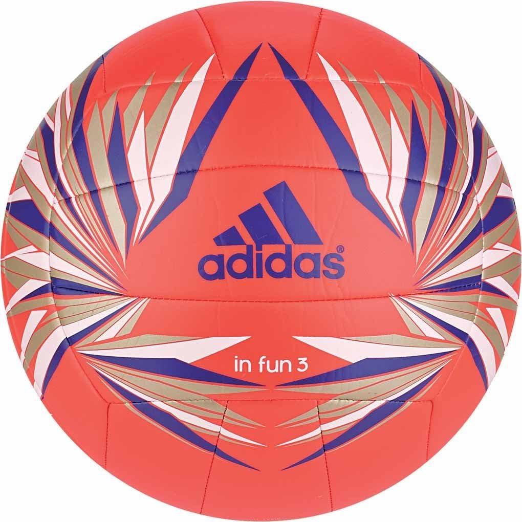 adidas In Fun 3 - Balón de Voleibol, Color Naranja/Azul/Dorado ...