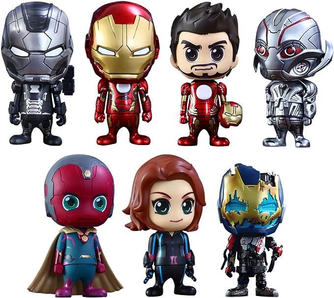 Vengadores La Era de Ultrón Pack de 7 Minifiguras Cosbaby (S ...