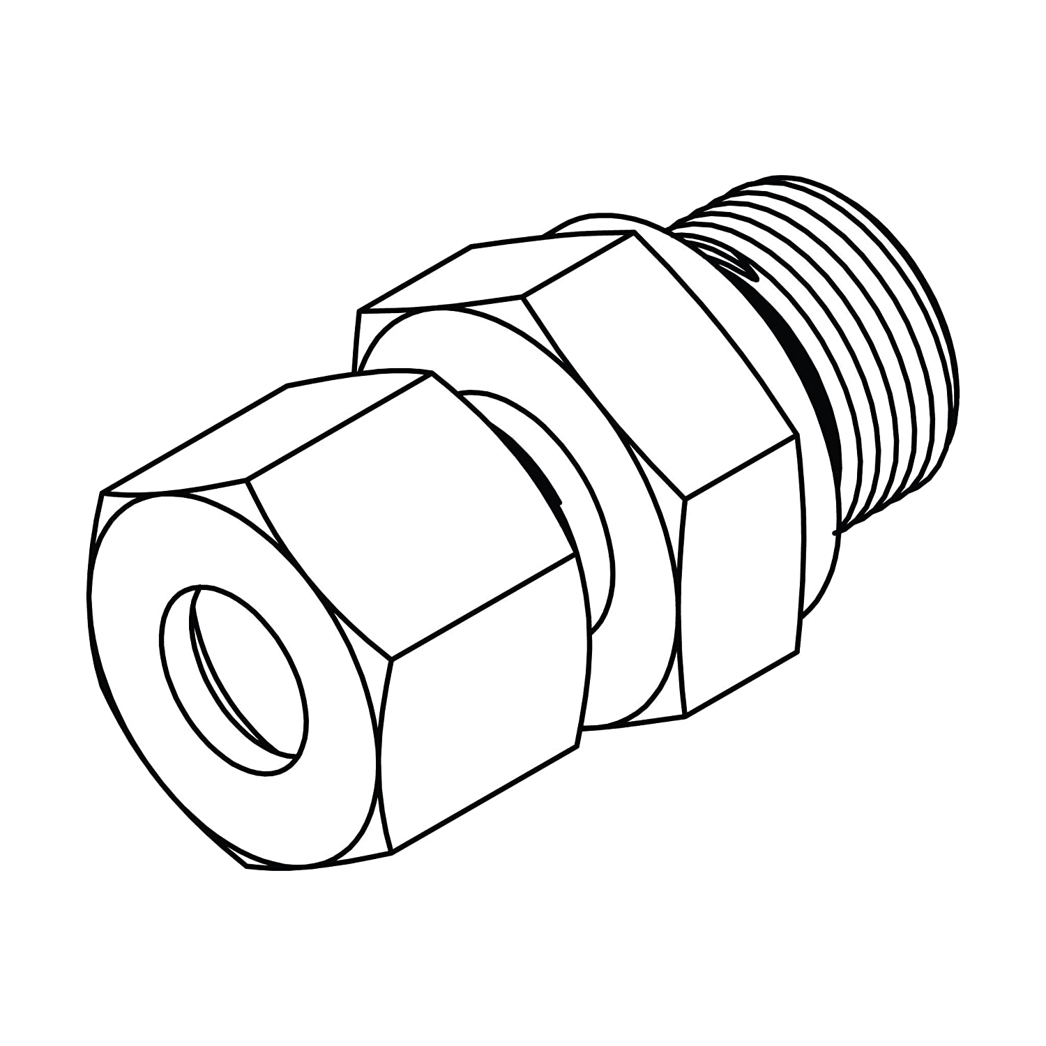x M27 x 2.0 with Captive Seal Steel Tompkins Industries MC6053-S20-27 Metric Compression Male Stud Coupling Metric 30 x 2.0 ,S20