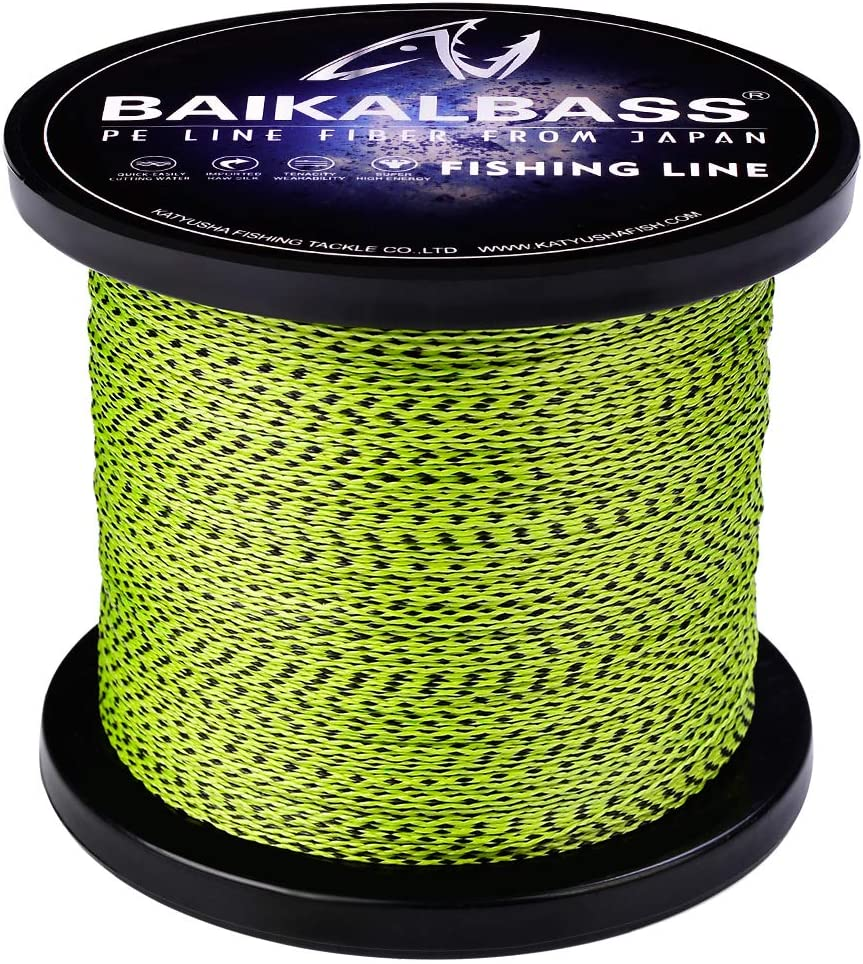 BAIKALBASS Super Strong Braided Fishing Line 9 Weaves Abrasion Resistant PE Braid Wire for Saltwater 30LB-310LB 300M//328Yds 500M//547Yds 1000M//1094Yds 2000M//2187Yds Zero Stretch Superline