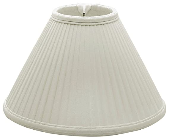 2158e6f6de6e Royal Designs Coolie Empire Side Pleat Basic Lamp Shade, Linen/Taupe ...