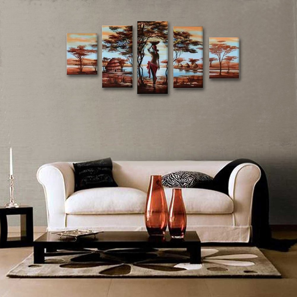 Amazon.com: Unixtyle Art 100% Hand-painted Wood Framed Wall Art ...