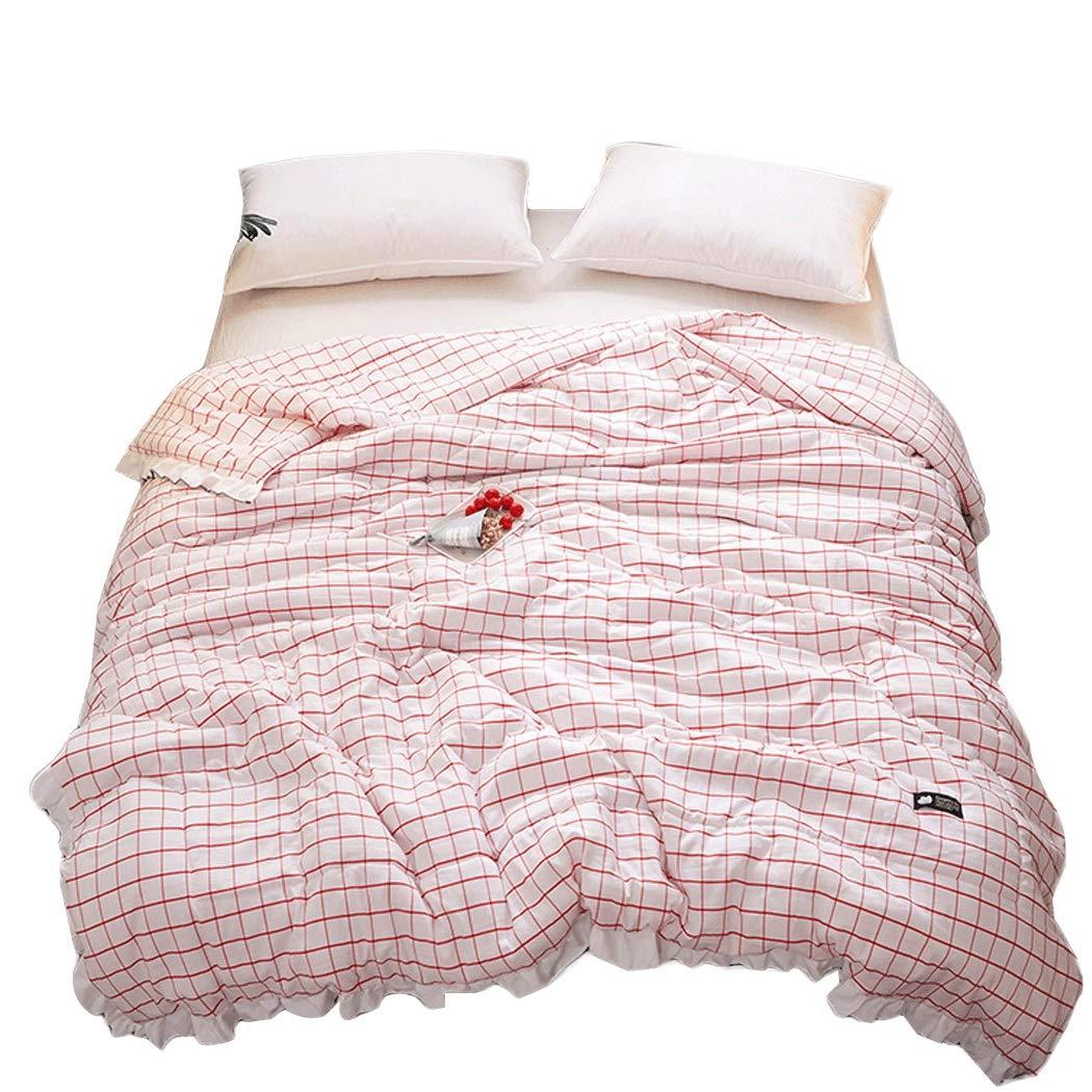 Yongyong モダン薄手キルト スクエアラティス シングルナップキルト 洗濯可能 150cm 200cm 200cm 230cm 150cm*200cm ピンク YONGYONG B07MQ9VRMV ピンク 150cm*200cm