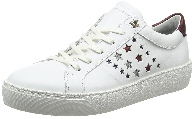 Tommy Hilfiger S1285uzie HG 2a1, Zapatillas para Mujer 39 EU|Blanco (White)