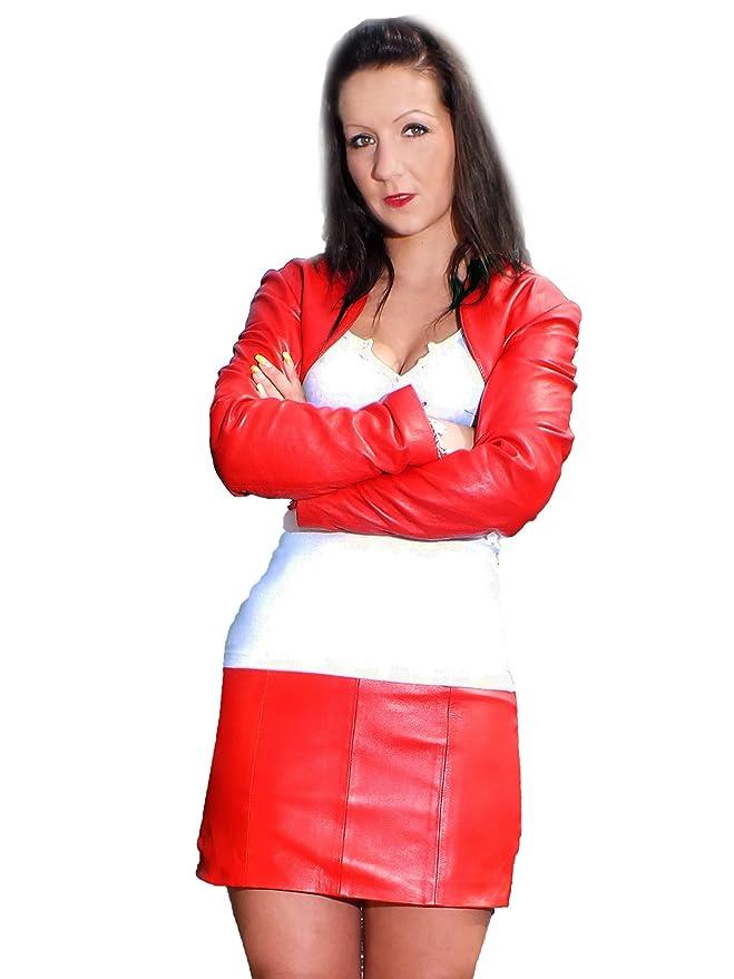 FD-1011 - Mini falda de piel de cordero y napa (varias tallas ...