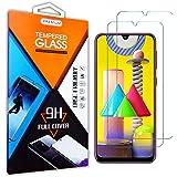 Teebo 2-Pack Mica Protector de Pantalla para Samsung Galaxy M31/A31/A50/M30S/A30, Vidrio Cristal Templado Protector…