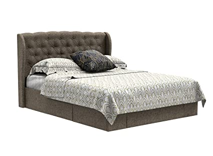 Forzza Baxter Queen Size Bed With Storage Brown Amazon In Home