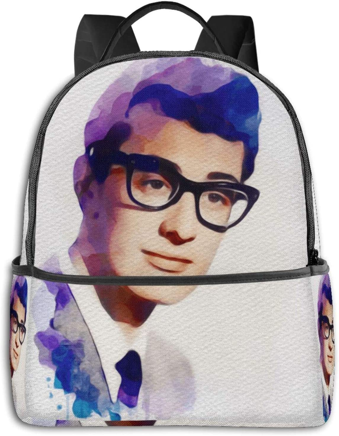Buddy Holly, Music Legend Pullover Hoodie (2) Student School Bag School Cycling Leisure Travel Camping Outdoor Backpack