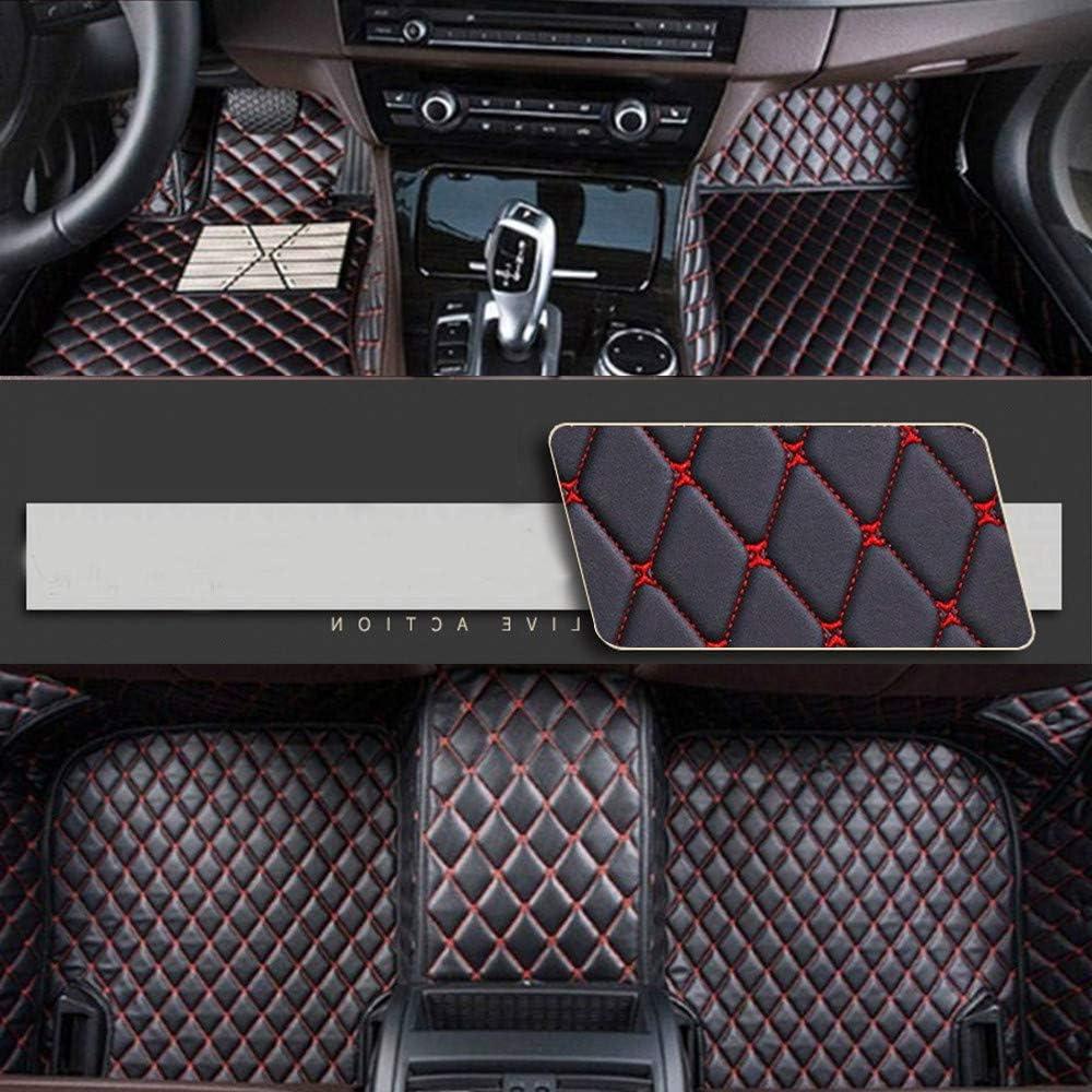 8X-SPEED Alfombrillas Coche de Cuero para For BMW Serie 3 F30 F31 F34 2013-2017 Protección Alfombras de Cobertura Completa Antideslizante Moqueta Black Red
