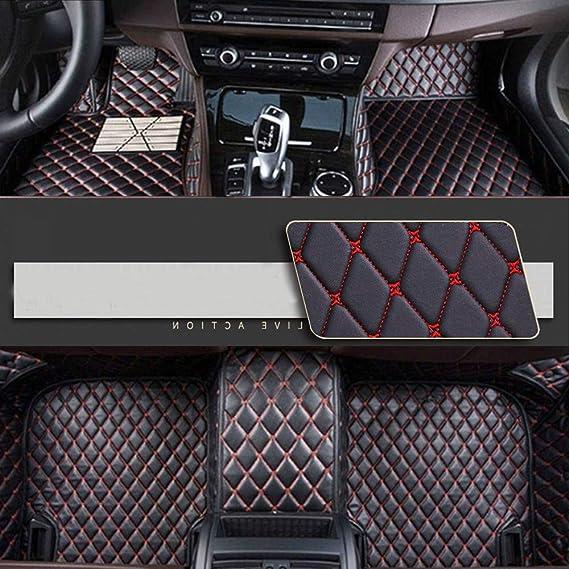 8x Speed Auto Fussmatten Für Volkswagen Amarok Canyon Aventura 2010 2018 Auto Schutzdecke Volle Abdeckung Autoteppiche Hochwertiges Pu Leder Wasserdichte Black Red Auto