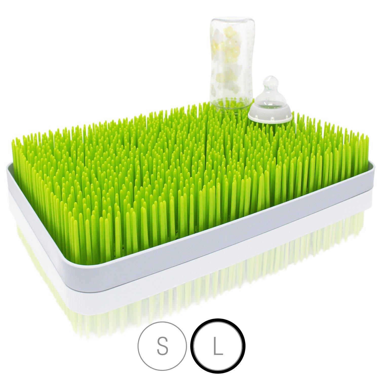 Amazy Tappetino per asciugare accessori per neonato – Superficie scolapiatti per un'asciugatura igienica di biberon, ciucci e piatti (misura grande | 40x27cm)
