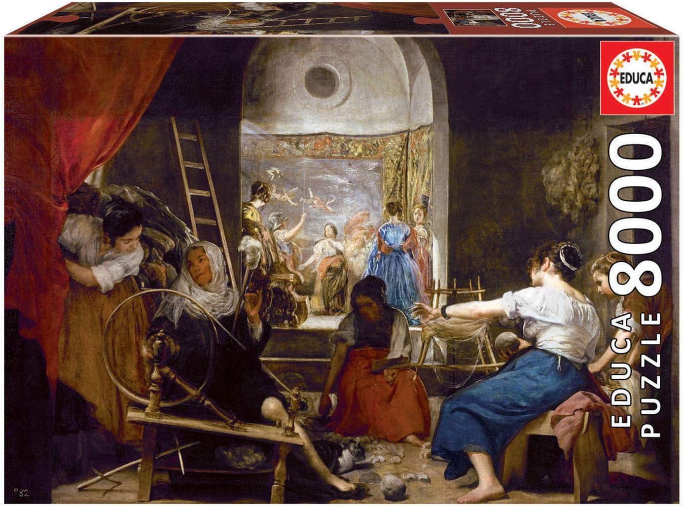 Educa Borras - Genuine Puzzles, Puzzle 8.000 piezas, Las Hilanderas, Velázquez (18584): Amazon.es: Juguetes y juegos