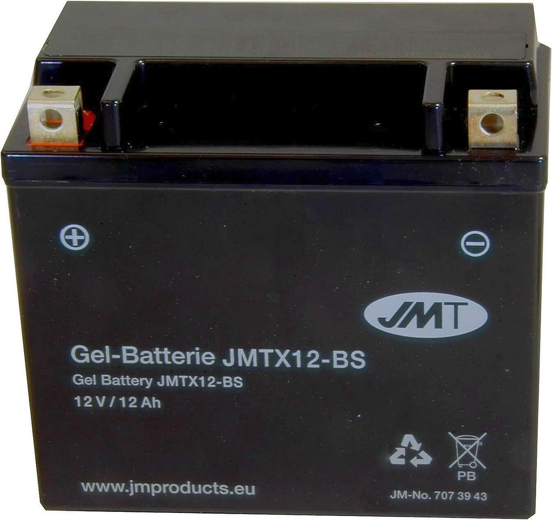 YTX12-BS Gel Batterie f/ür GSF 1200 S Bandit Baujahr 1996-2005 von JMT