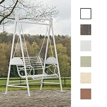 CLP 2 Sitzer / 3 Sitzer Garten Hollywoodschaukel AIMEE, Landhaus Stil,  Metall (
