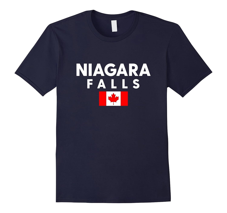 Niagara Falls Canada Flag Maple Leaf Ontario Canada T-Shirt-BN