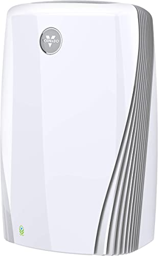 Vornado PCO575DC Air Purifier with True HEPA and Carbon Filtration to Capture Allergens, Smoke, Odors, and Patented Silverscreen Technology Attacks Viruses, Bacteria, VOC s, White