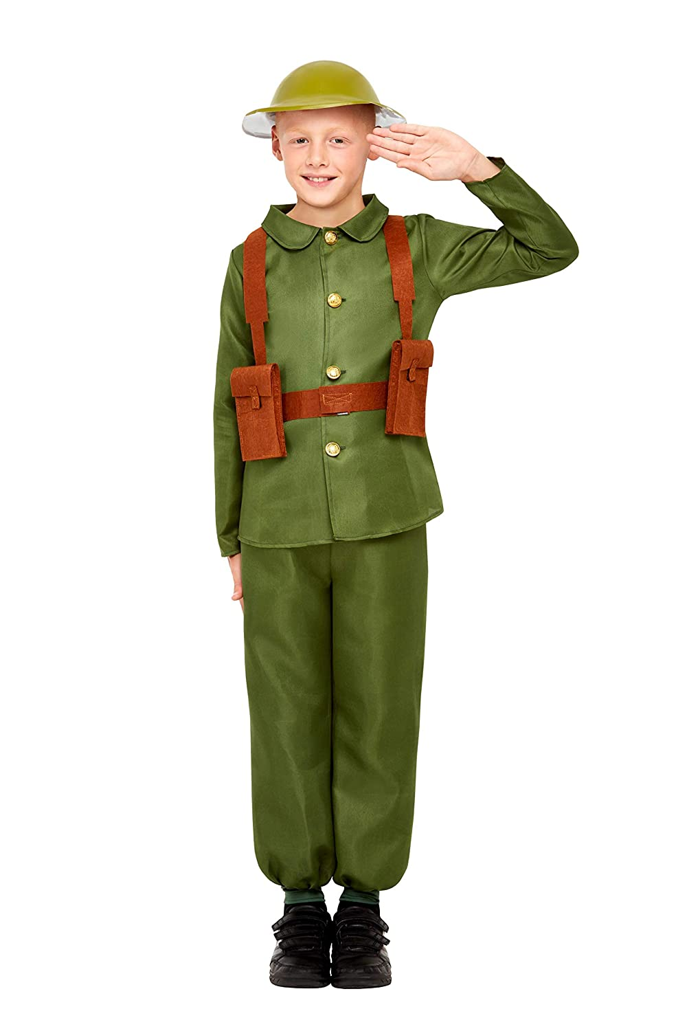 Childrens Army Officer Costume Boys Soldier Fancy Dress Uniform New by Smiffys