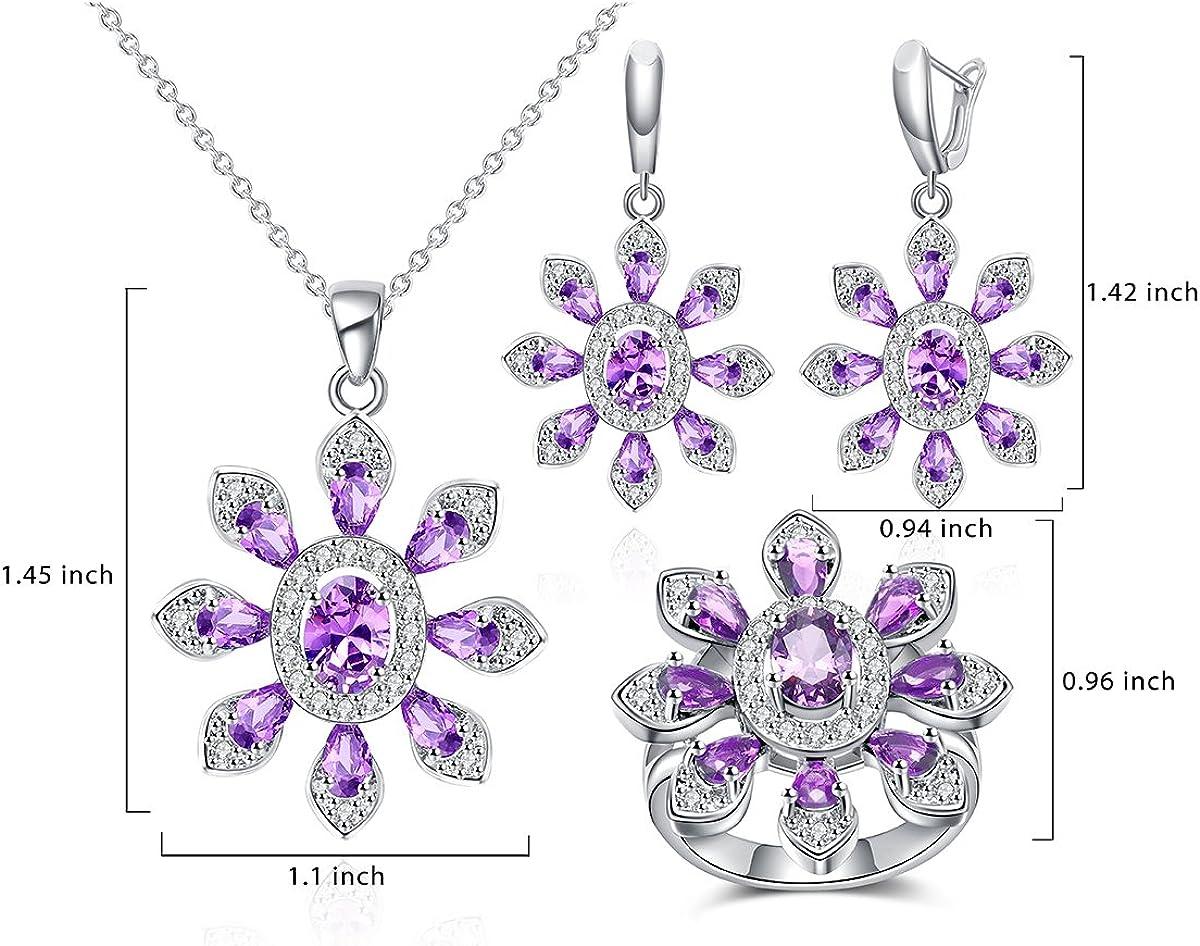 Jiangyue Women Rings AAA Cubic Zirconia Rhodium Plated Exquisite Big Stone Ring Elegant/Jewelry Size 5-9