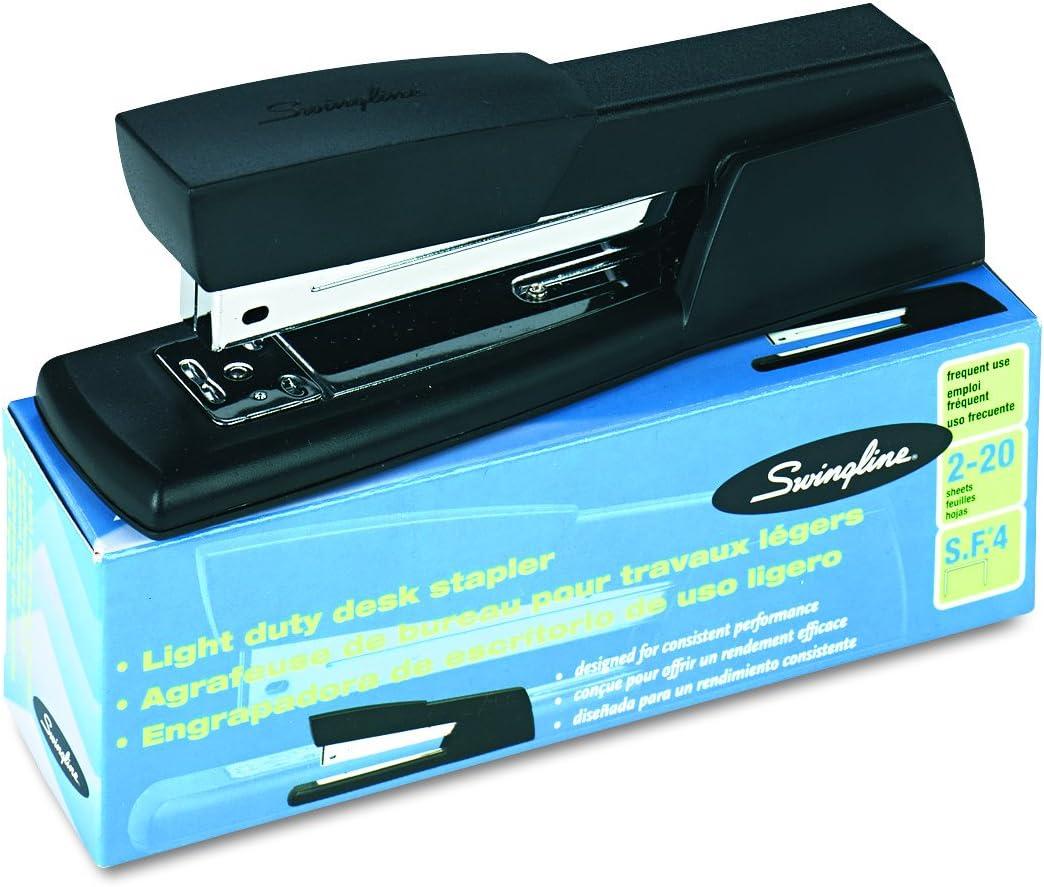 Swingline 40701 Light-Duty Full Strip Desk Stapler Black 20-Sheet Capacity