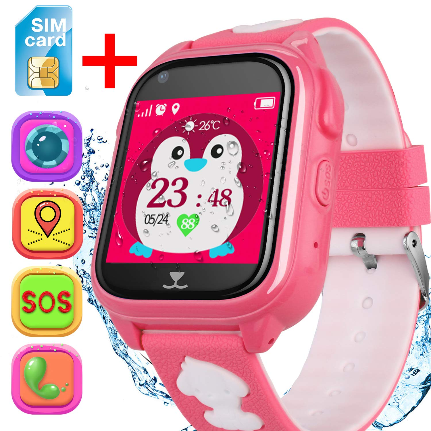 Amazon.com: Kids Smart Watch Phone for 3+ Girls Boys ...