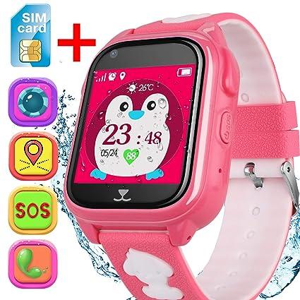 Amazon.com: Reloj inteligente para niños con tarjeta SIM ...