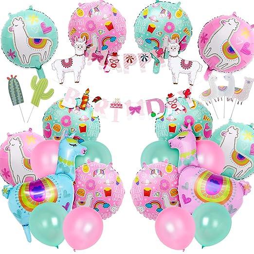 Llama Decoración de fiesta de cumpleaños suministros para ...