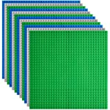 """Lekebaby Classic Baseplates Building Base Plates for Building Bricks 100% Compatible with Major Brands-Baseplates 10"""" x…"""