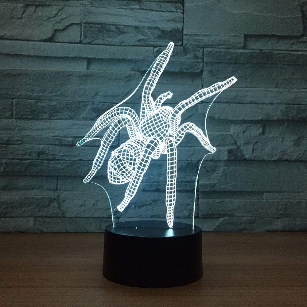 De Visual Araña Led Modelado 7 Cambio 3d Mzdpp Lámpara Color QCWEBerdox