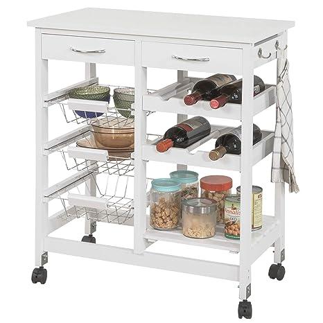 SoBuy Carrito de servir, carrito de cocina,L68 x P38 x A77cm FKW78-