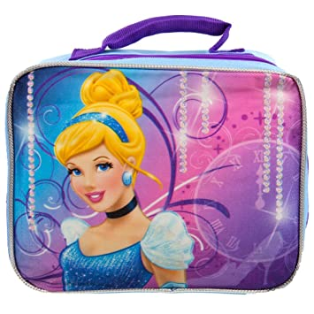 edcc7d64583 Image Unavailable. Image not available for. Color  Disney Princess  Cinderella Insulated Canvas Lunch Box 39290